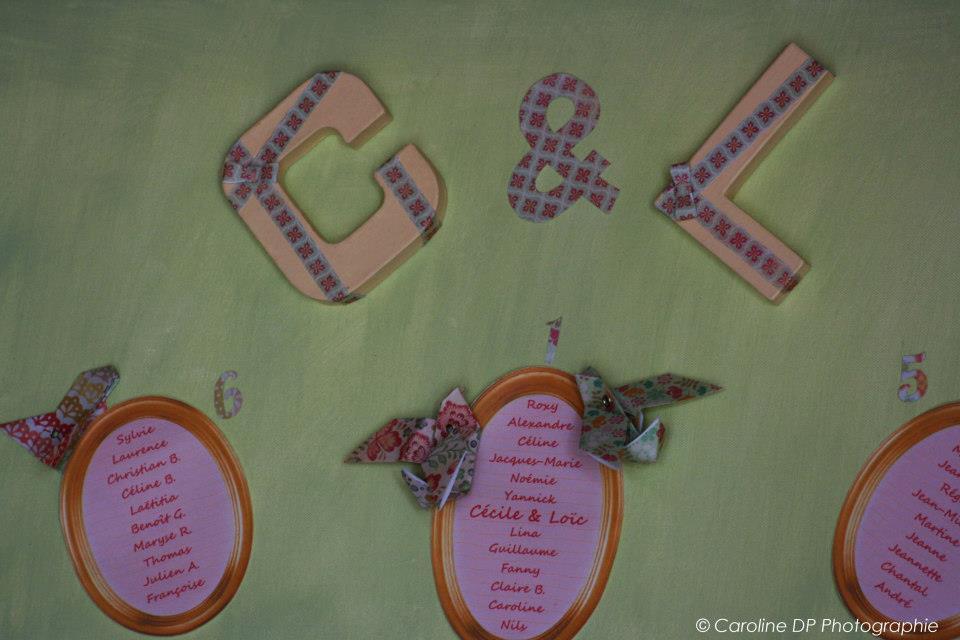 mariage c u00e9cile et lo u00efc u2026 tout en origami