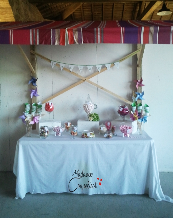 Candy Bar Soraya et David  Wedding Planner Madame Coquelicot