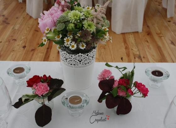 Centre de table.Fleurs.Bougies.Mariage.Organisatrice Toulouse