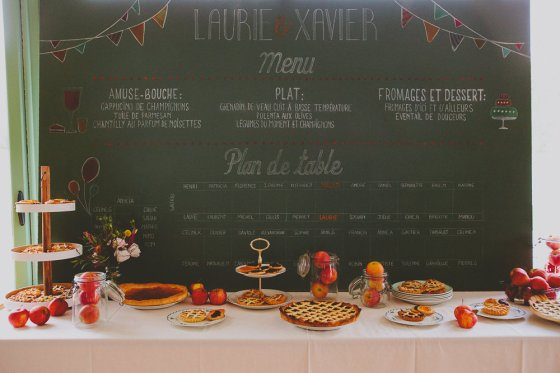 Plan de table + Support Menu Emmanuelle B Photographie