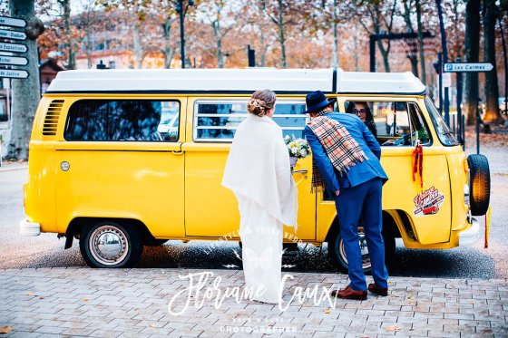 Location Combi volkswagen jaune mariage Toulouse