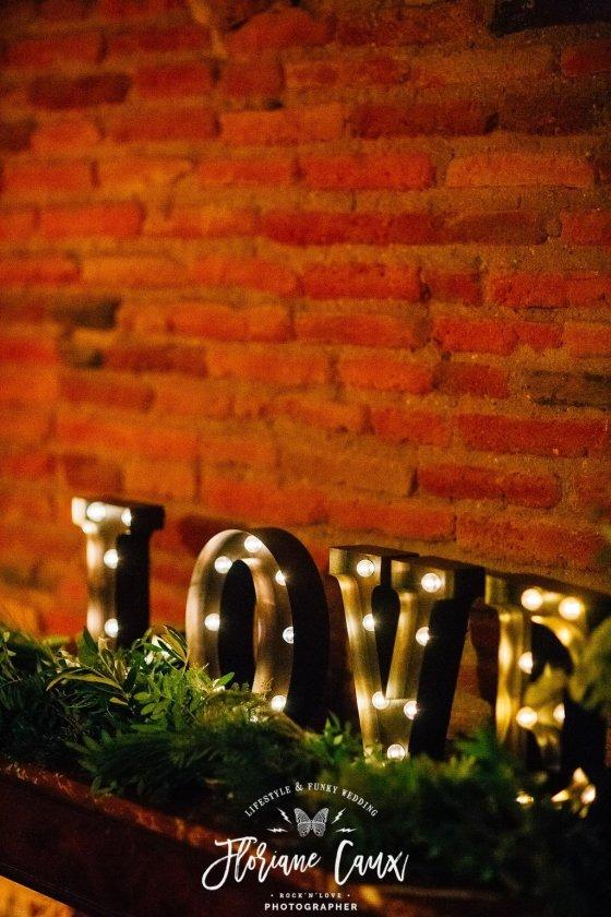 Lettre lumineuse mariage Toulouse décoration
