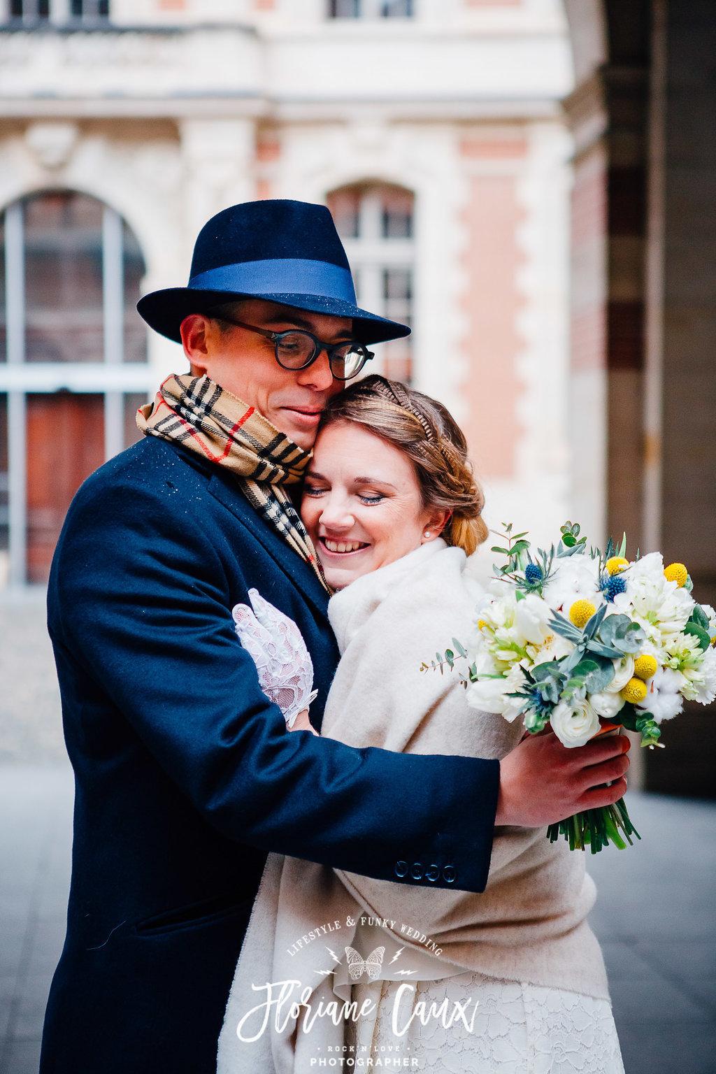 photos de couple mariage d'hiver