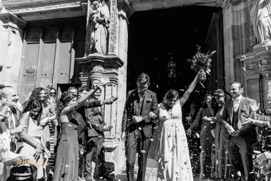 Sortie de cérémonie mariage Toulouse