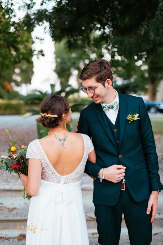 mariée tatouée mariage tropical toulouse